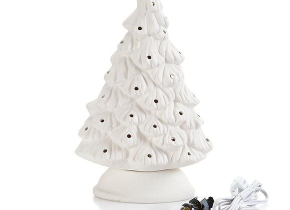 Skinny Shelf Christmas Tree,  (9.5W x 14H)
