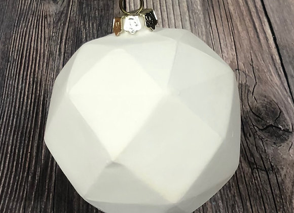 3D Faceted Ornament w/ Gold Cap