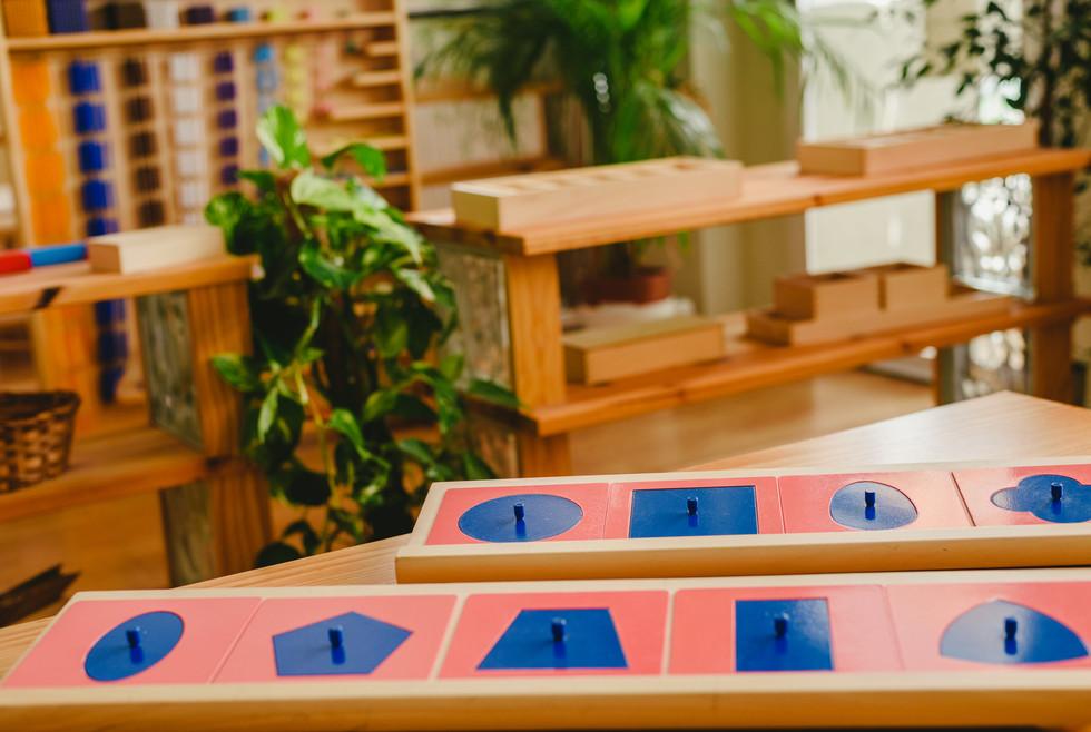Geometric material in Montessori classro
