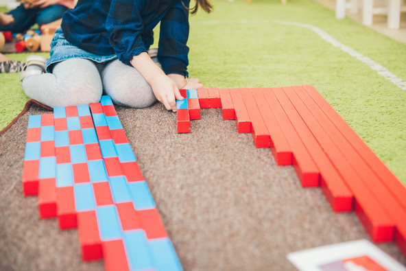Learning materials in a montessori metho