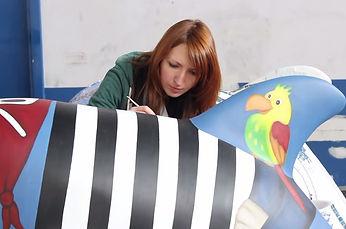 Elisa Guietti, public art, Wild Dolphins Aberdeen