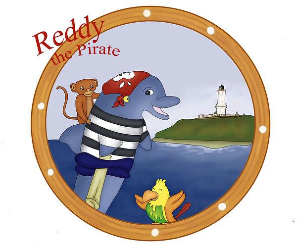Elisa Guietti, Illustration, Reddy the pirate, Wild Dolphins Aberdeen