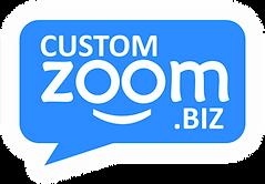 CustomZoom.Biz Logo - ZOOMie with a Glow