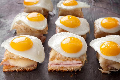 croque monsier canapes