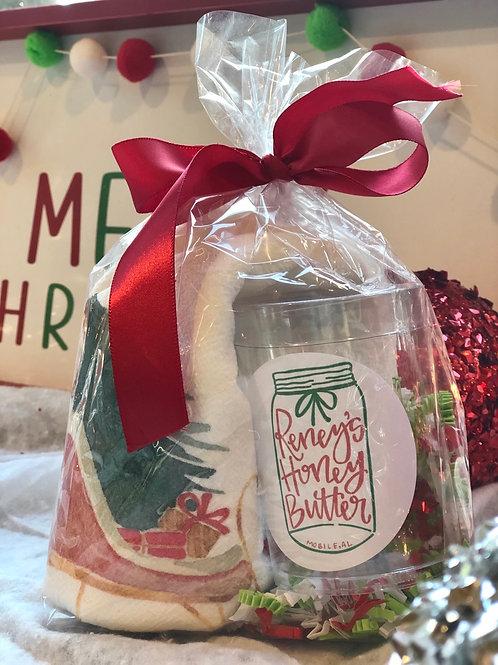 Christmas Tea Towel & Mini Sampler Gift Set