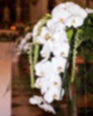 Dettagli di un allestimento floreale in