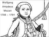 Picture of a young Mozart.