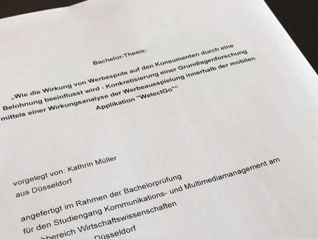 Bachelor-Thesis (Note 1,0) bestätigt starke Werbewirkung von Welect