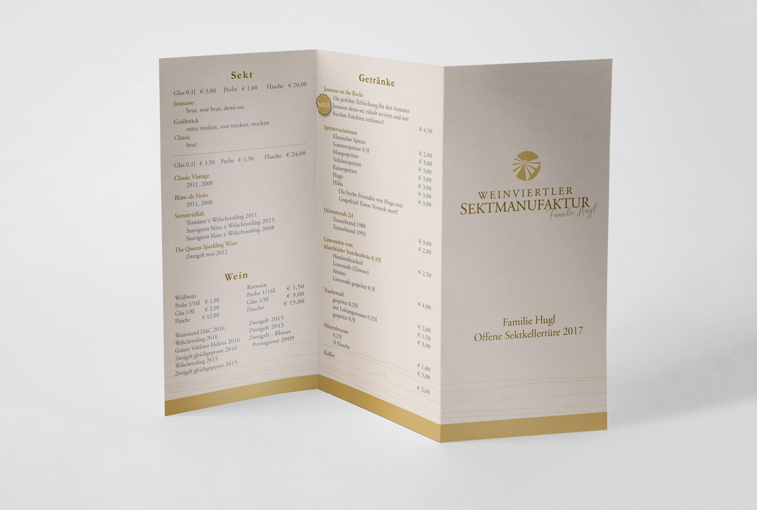 Drucksorten I Weinviertler Sektmanufaktur