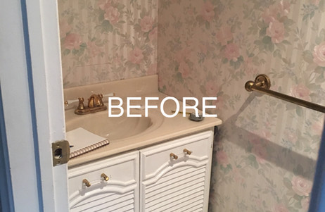 Before picture of Powder Room