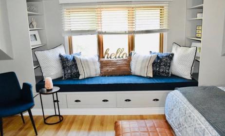 Window Seat in Master Bedroom