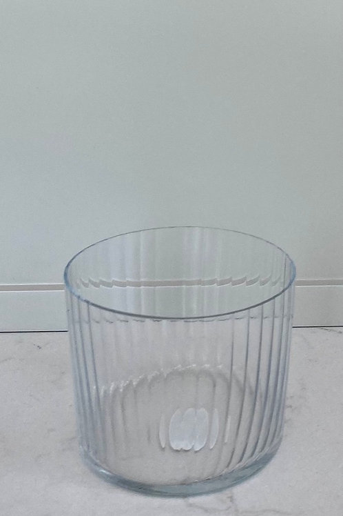 Etched old-fashioned glass