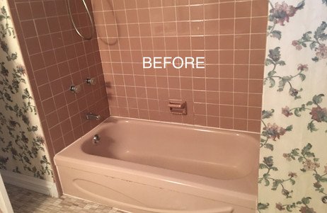 Before picture of Family Bathroom