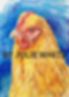 Portrait drawing of Buff Orpington hen