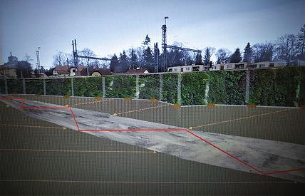 Vizualizace - pohled od vjezdu na parkov