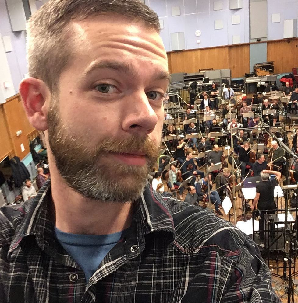 Samuel Joseph Smythe recording Star Wars: Battlefront II at Abbey Road Studios