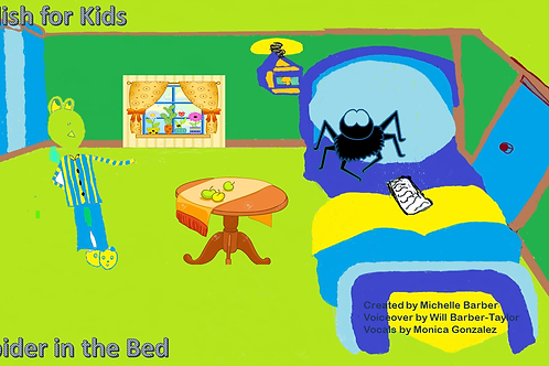 A Spider in the Bed English Lesson Video