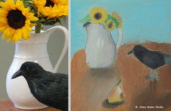 32_alma_mater_art_studio_crow_sunflowers