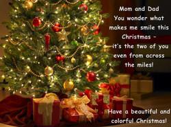Merry Christmas Mom and Dad Sample 2