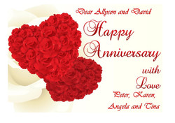 Anniversary card Sample