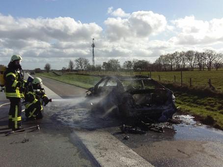 PKW Brand auf der A7