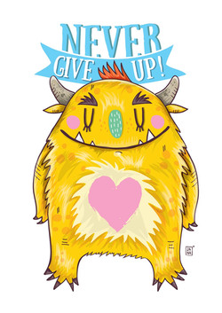 Never give up Monster