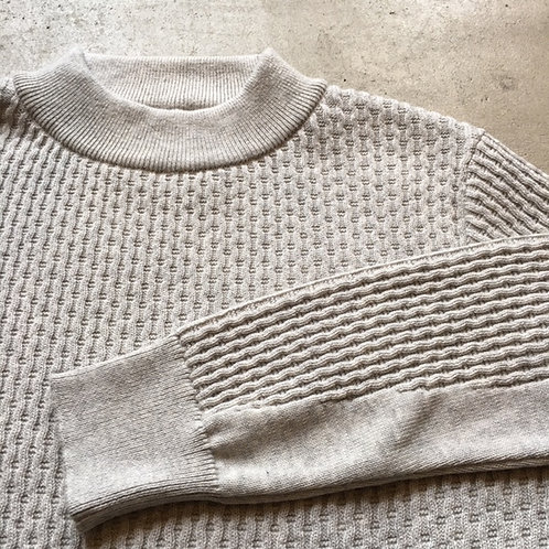 Mock Neck Summer Knit (S) Gray