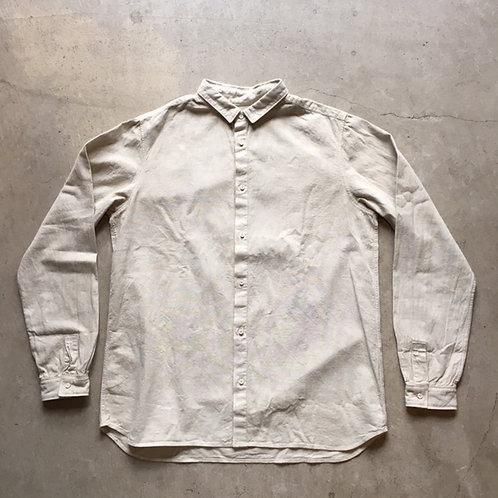 岡崎木綿シャツ(ベンガラ染)ベンガラ白 サイズ4