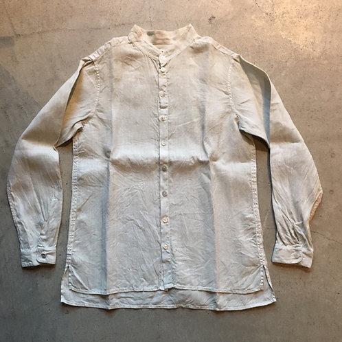 大麻シャツ ベンガラ白 サイズ1