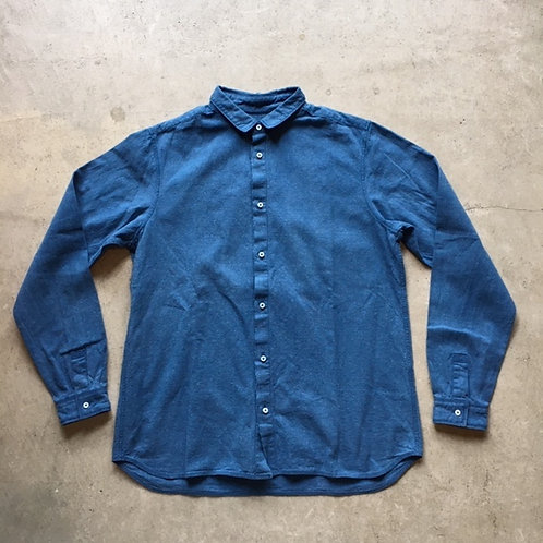 岡崎木綿シャツ(草木染)藍 サイズ2