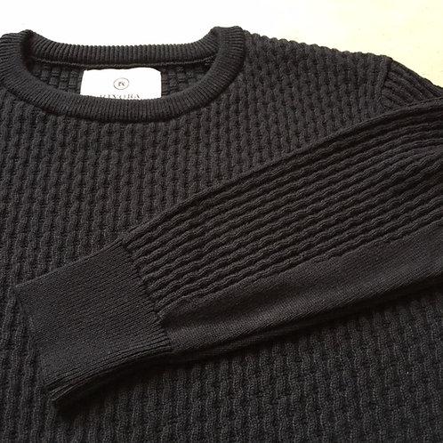 Round Neck Summer Knit (M) Black