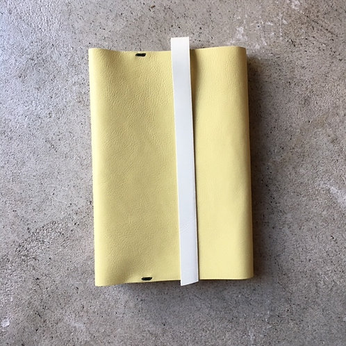 Bookcover 2tone (L-lemon x beige)