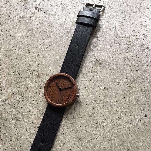 Nakari watch JP 32mmφ walnut/black