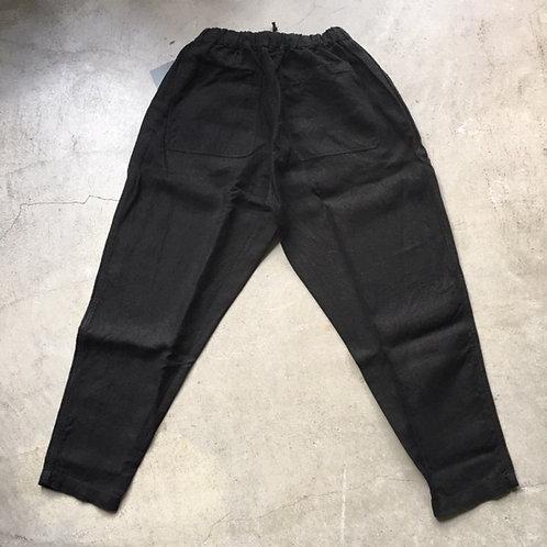 大麻ロングパンツ 厚 黒 サイズ2