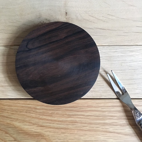 木の器 黒檀 平・小