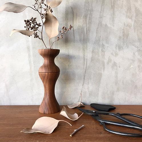 flower vase ウォルナット
