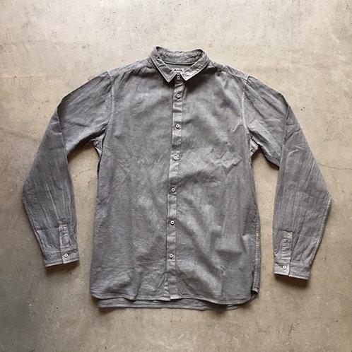 岡崎木綿シャツ(ベンガラ染)松煙 サイズ2