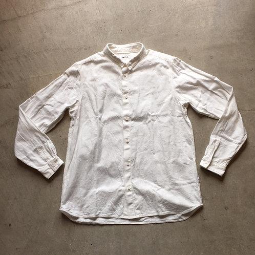 岡崎木綿シャツ 白 サイズ2