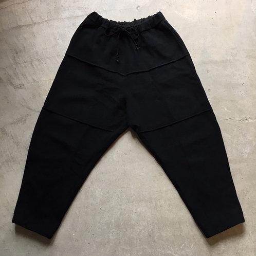 ウールブランケットパンツ 黒 サイズ2