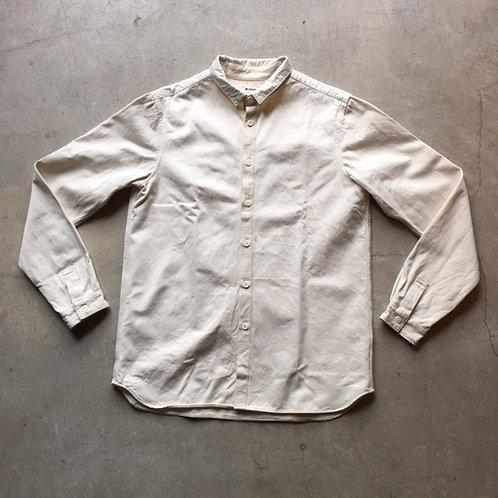 裏絹紬表綿高密度シャツ 生成 サイズ2