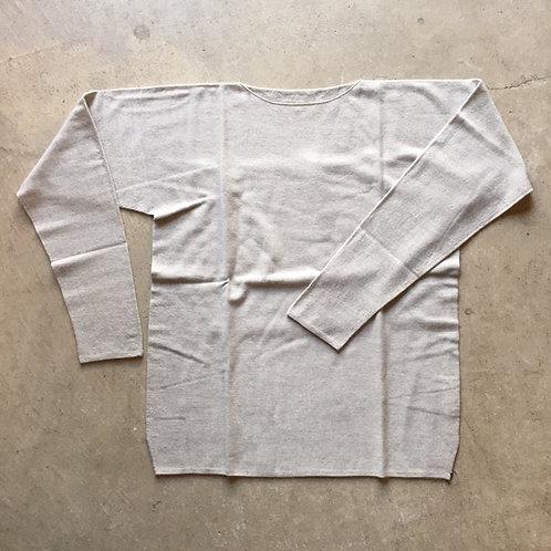 強撚ウールニット長袖 灰 サイズ1