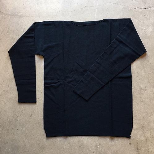 強撚ウールニット長袖 紺緑 サイズ2