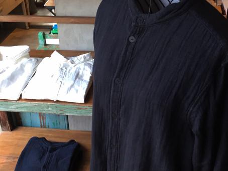 MITTAN 三重織綿麻シャツ、岡崎木綿シャツ