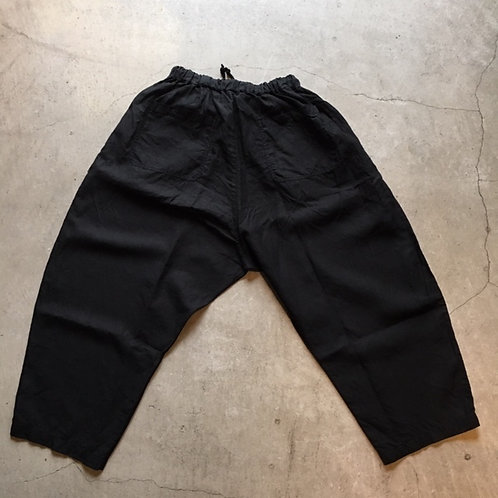 大麻パンツ 薄 黒 サイズ3