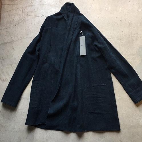 ラオスコットンロングシャツ 藍xアーモンド サイズ2