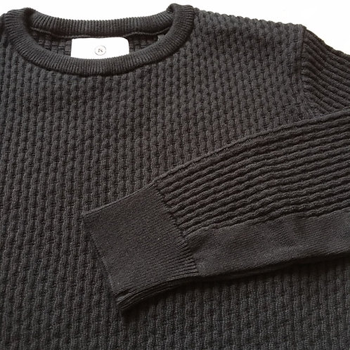 Round Neck Summer Knit (L) Black