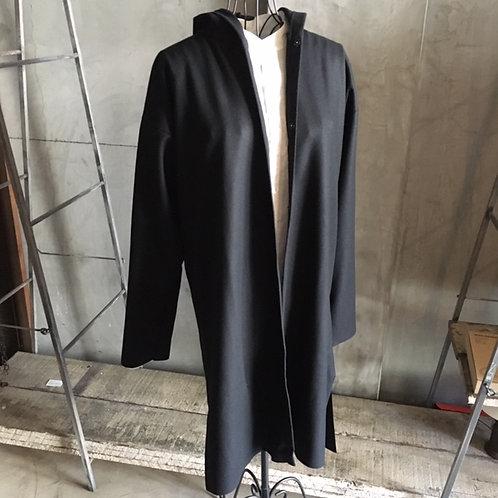 ウールスムースロングフードジャケット サイズ2
