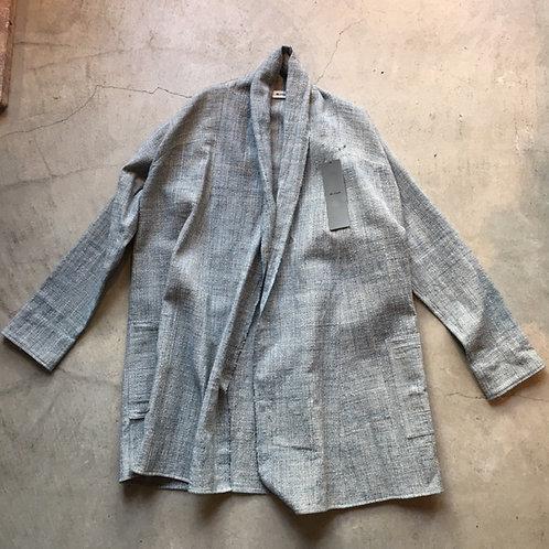 ラオスコットンロングシャツ 藍x タイコクタン(格子)サイズ2