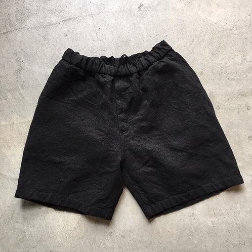 亜麻苧麻ショート 黒 サイズ2