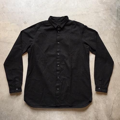 岡崎木綿シャツ 黒 サイズ4